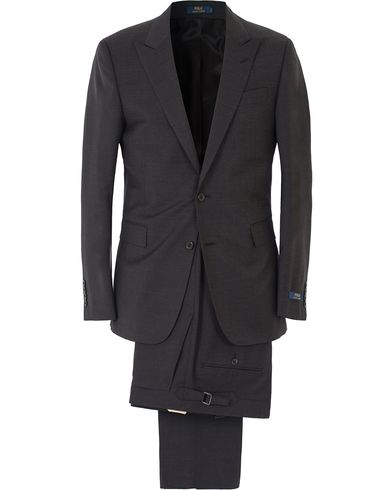 Polo Ralph Lauren Connery Peak Lapel Wool Suit Grey