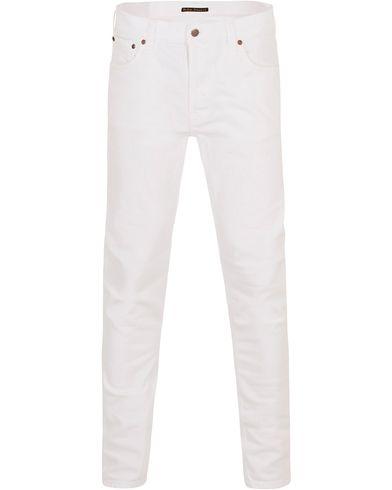 Nudie Jeans Lean Dean Organic Slim Fit Jeans Clean White