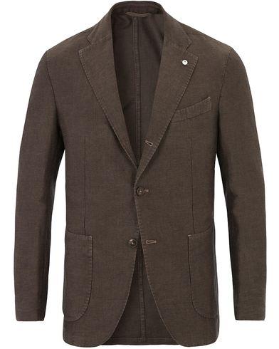 L.B.M. 1911 Jim Cotton/Linen Vintage Blazer Brown