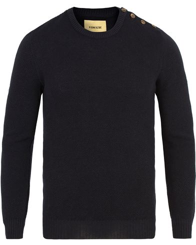 De Bonne Facture Breton Wool and Linnen Knit Navy