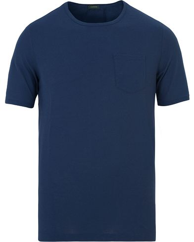 Zanone Ice Cotton Pocket Tee Deep Blue
