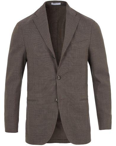 Boglioli K Jacket Stretch Wool Blazer Light Grey