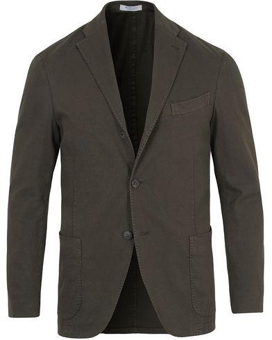Boglioli K Jacket Stretch Cotton Blazer Dark Green