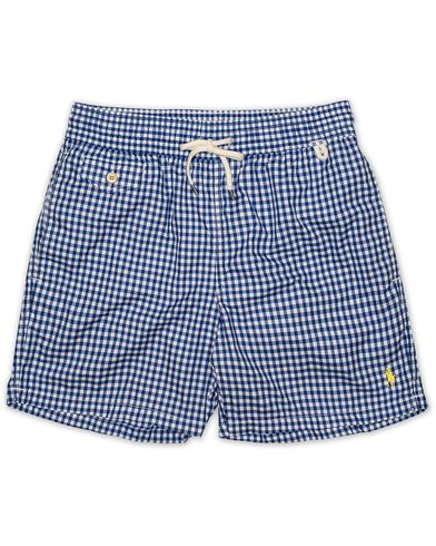 Polo Ralph Lauren Traveler Gingham Swimtrunks Pure Sapphire