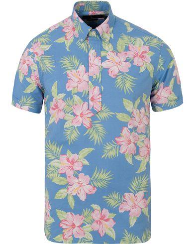Polo Ralph Lauren Slim Fit Oxford Short Sleeve Flower Shirt Pastal