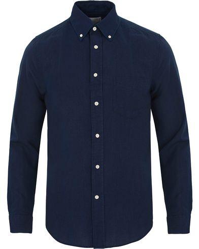 GANT Rugger Indigo Oxford Hugger Fit Shirt Dark Indigo