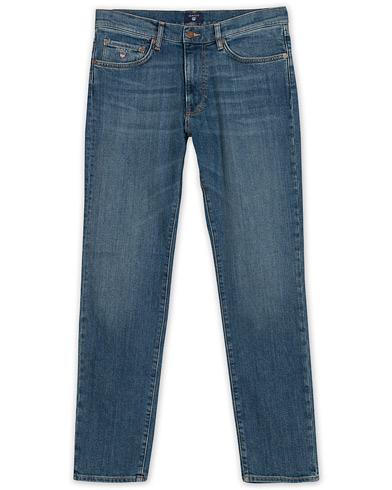 GANT Slim Straight Jeans Mid Blue