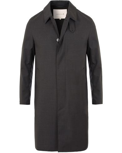 Mackintosh Single Breasted Loro Piana Coat Charcoal