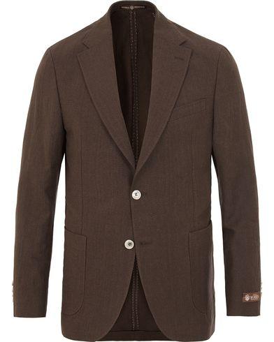 Morris Heritage Frank Oxford Linen/Cotton Blazer Brown