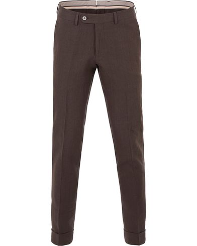 Morris Heritage Fred Oxford Linen/Cotton Trousers Brown