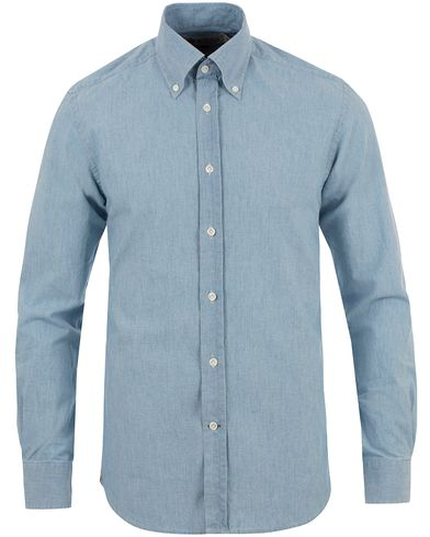 Morris Heritage Button Down Chambray Shirt Blue