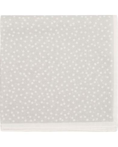 Morris Heritage Como Cotton Dot Pocket Square Grey