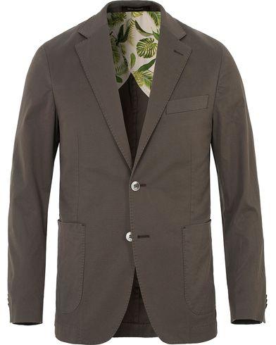 Oscar Jacobson Einar Stretch Cotton Patch Pocket Olive Green