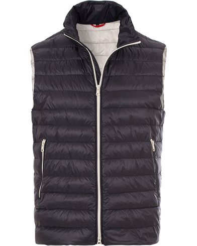 Fay Lightweight Down Vest Navy
