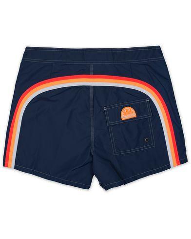 Sundek Rainbow Mid Length Swim Shorts Navy