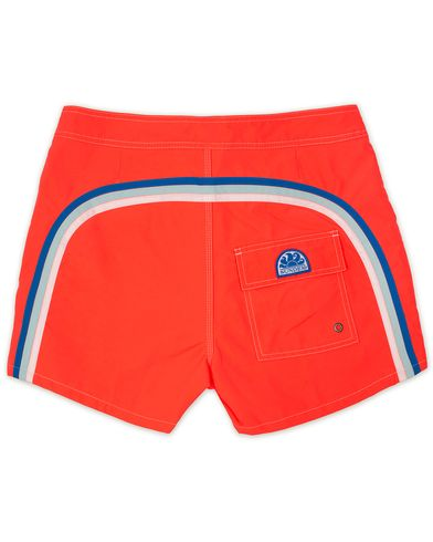Sundek Rainbow Mid Length Swim Shorts Sunkissed Orange