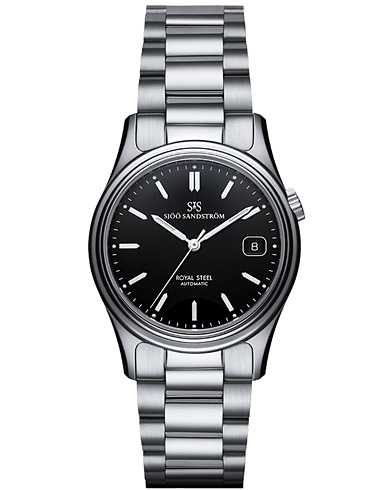 Sjöö Sandström Royal Steel Classic Black with Steel 36 mm