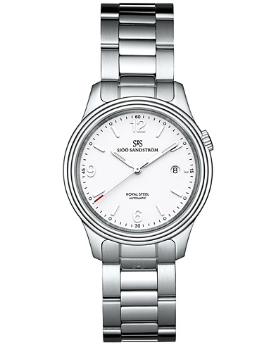 Sjöö Sandström Royal Steel Classic White with Steel 41 mm