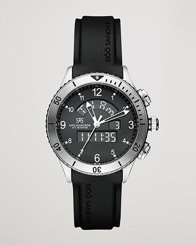 Sjöö Sandström UTC Skydiver Black with Black Rubber 44,2 mm