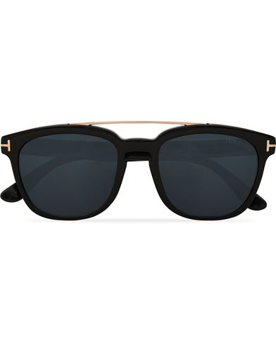 Tom Ford Holt FT0516 Sunglasses Shiny Black/Smoke  i gruppen Assesoarer / Solbriller / Firkantede solbriller hos Care of Carl (13781510)
