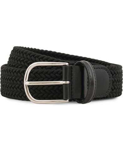Anderson's Stretch Woven 3,5 cm Belt Black i gruppen Assesoarer / Belter / Flettede belter hos Care of Carl (13781911r)