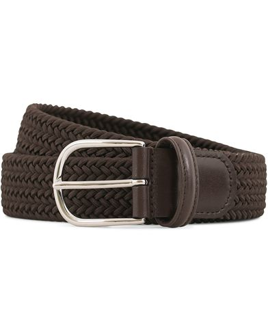 Anderson's Stretch Woven 3,5 cm Belt Brown i gruppen Assesoarer / Belter / Flettede belter hos Care of Carl (13782111r)