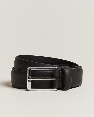 Anderson's Double Nappa Calf 3 cm Belt Black