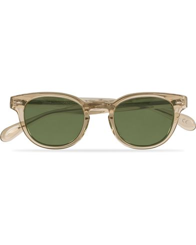Oliver Peoples Sheldrake Sunglasses Buff/Crystal Green  i gruppen Assesoarer / Solbriller / Firkantede solbriller hos Care of Carl (13787410)