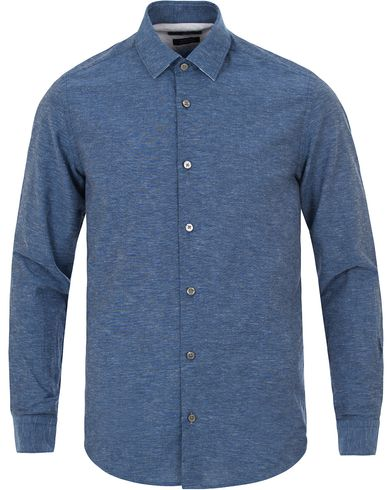 BOSS Lance Linen Shirt Navy