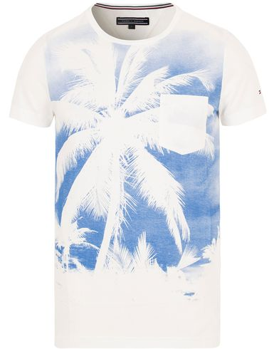 Tommy Hilfiger Harry Printed Palm Tee White