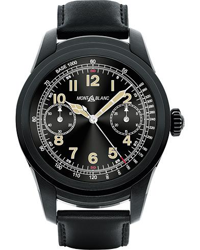 Montblanc Summit Smartwatch PVD Steel 46mm Black Calf