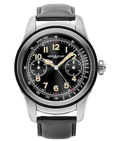 Montblanc Summit Smartwatch Stainless Steel 46mm Black Calf