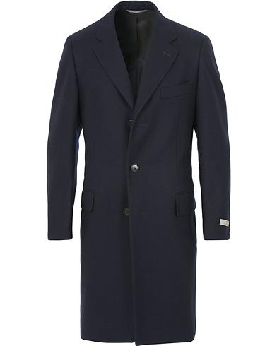 Canali Wool Coat Navy
