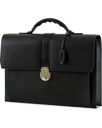 Smythson Grosvenor Slim Calf Briefcase Black  i gruppen Assesoarer / Vesker / Dokumentvesker hos Care of Carl (14032310)