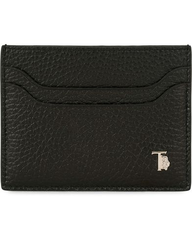 Tod's Grained Leather Credit Card Holder Black  i gruppen Assesoarer / Lommebøker / Kortholdere hos Care of Carl (14053910)