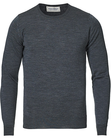 John Smedley Lundy Merino Crew Neck Pullover Charcoal