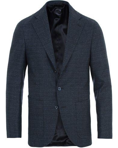 Caruso Structured Wool Blazer Navy