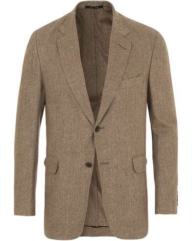 Dunhill Notch Lapel Wool Blazer Brown