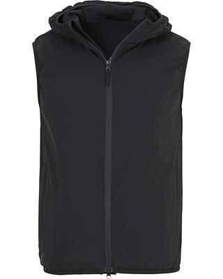 Aspesi Stretch Hooded Vest Dark Navy