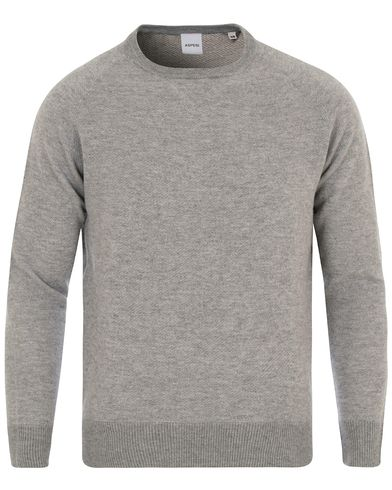Aspesi Wool Sweatshirts Light Grey Melange