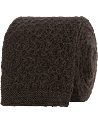Drake's Cashmere Knitted 6 cm Tie Brown