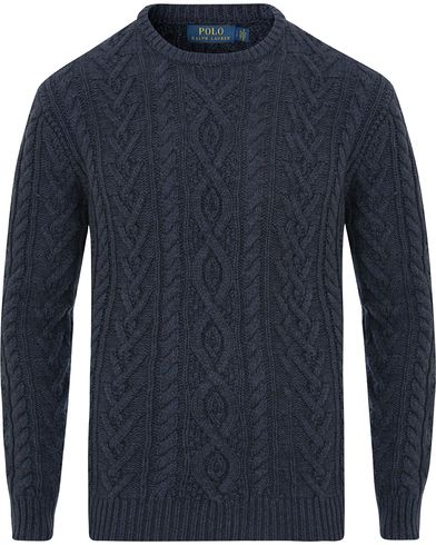 Polo Ralph Lauren Knitted Cable Slub Crew Neck Navy