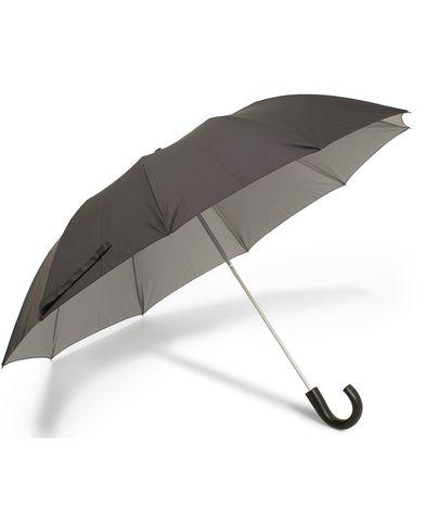 Fox Umbrellas Telescopic Umbrella Black/Contrast Grey