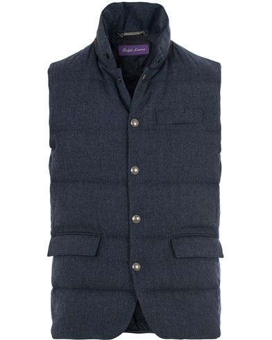 Ralph Lauren Purple Label Lloyd Down Filled Wool Vest Dark French Blue i gruppen Klær / Vester hos Care of Carl (14181411r)
