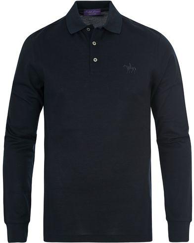 Ralph Lauren Purple Label Long Sleeve Polo Classic Chairman Navy