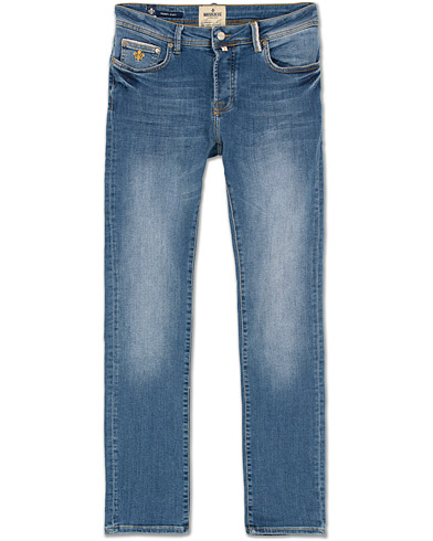 Morris Triumph Slim Fit Stretch Jeans Mid Blue i gruppen Klær / Jeans / Smale jeans hos Care of Carl (14194211r)