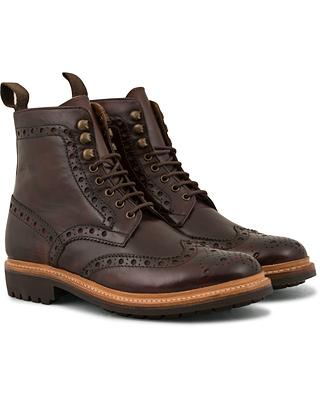 Grenson Fred Brogue Boot Commando Sole Brown Calf