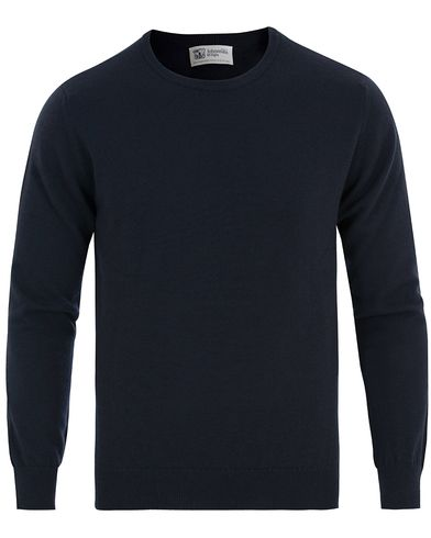 Johnstons of Elgin Cashmere Crew Neck Navy