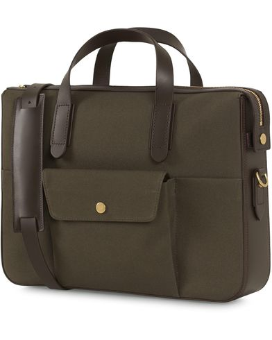 Mismo M/S Canvas Briefcase Army/Dark Brown  i gruppen Assesoarer / Vesker / Dokumentvesker hos Care of Carl (14286010)