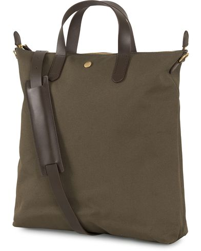 Mismo M/S Canvas Shopper Army/Dark Brown  i gruppen Assesoarer / Vesker / Totebags hos Care of Carl (14286610)